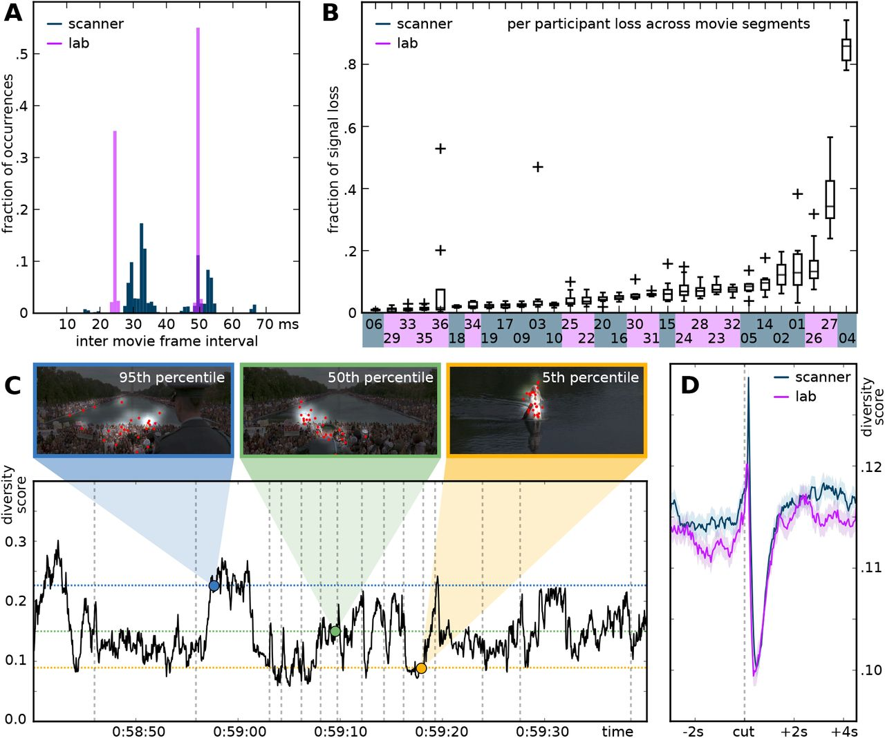 Simultaneous fMRI and eye gaze recordings during prolonged natural