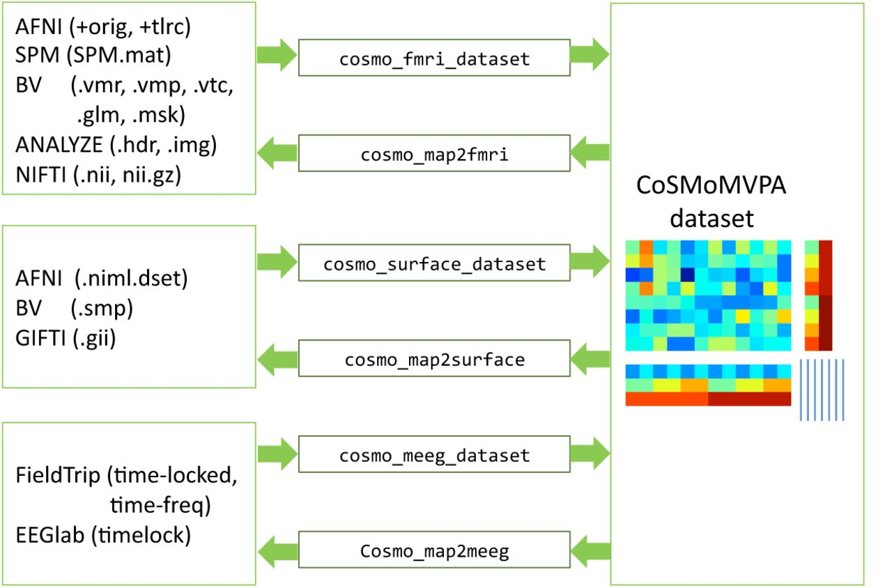 CoSMoMVPA: multi-modal multivariate pattern analysis of neuroimaging