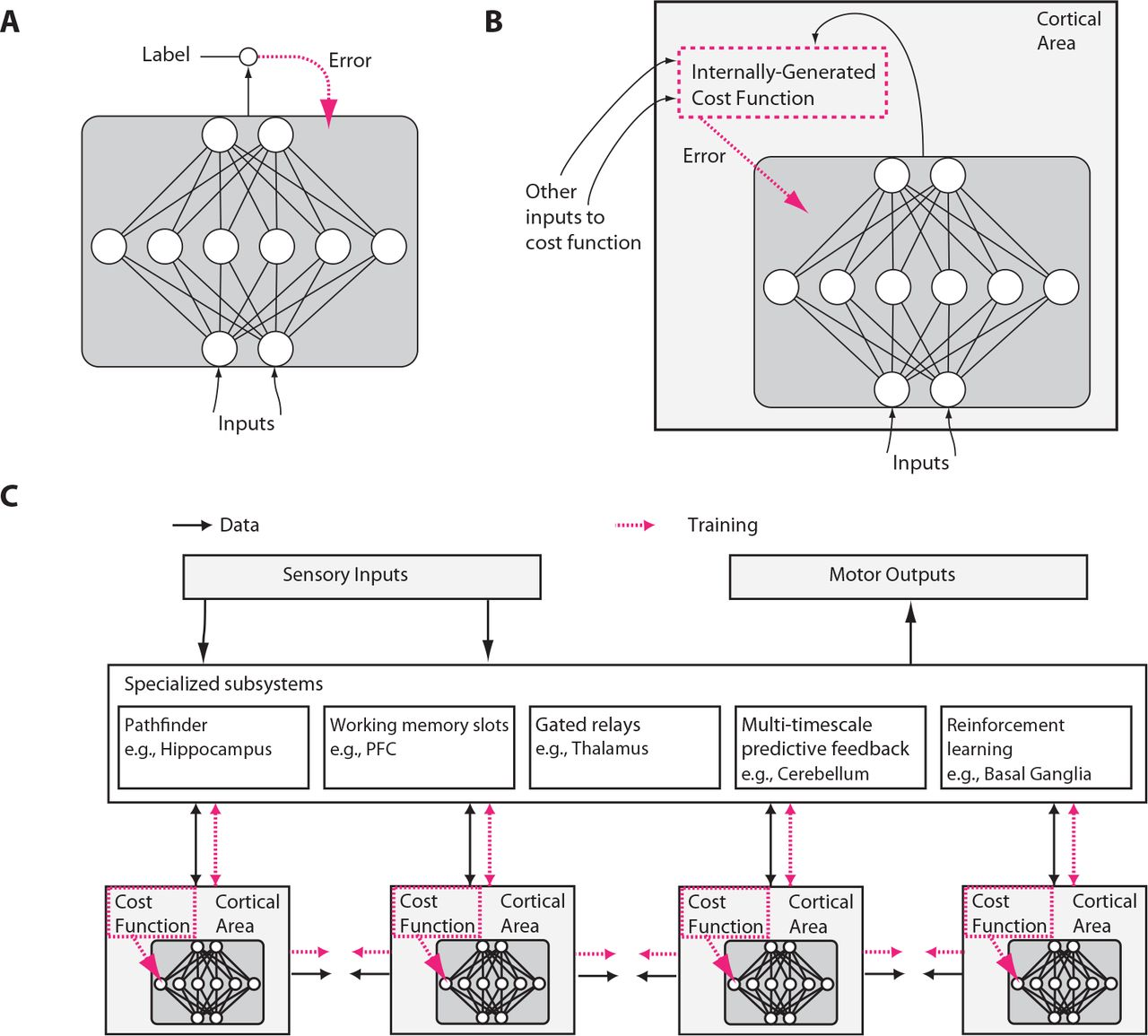 Towards an integration of deep learning and neuroscience