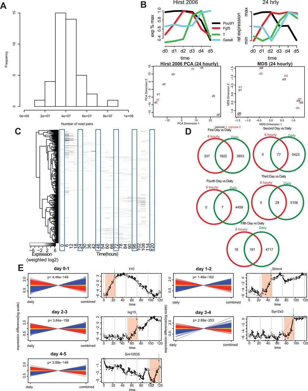 High Temporal Resolution Of Gene Expression Dynamics In Developing