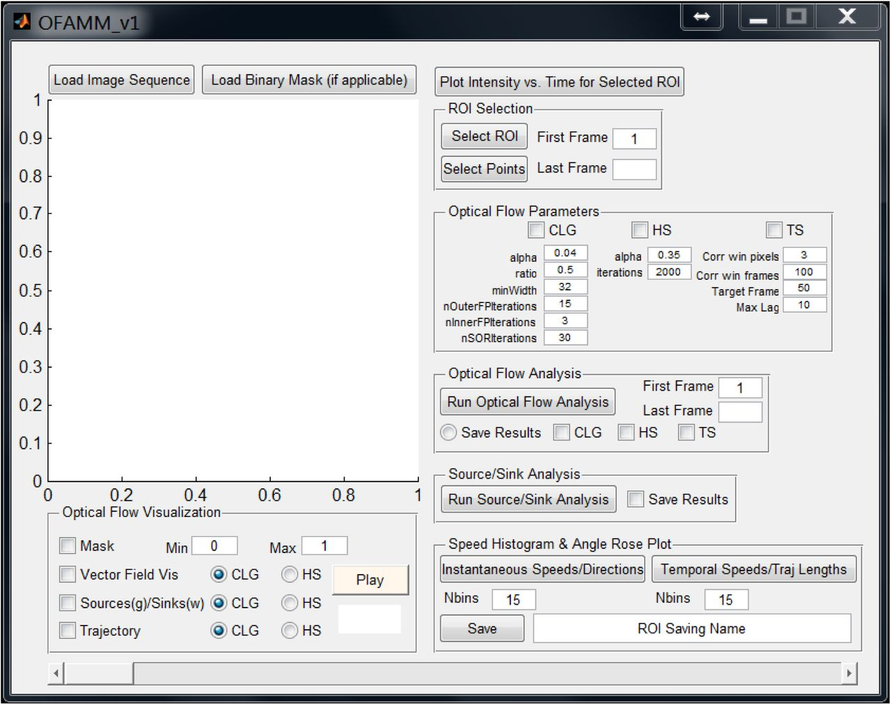 Optical-flow analysis toolbox for characterization of