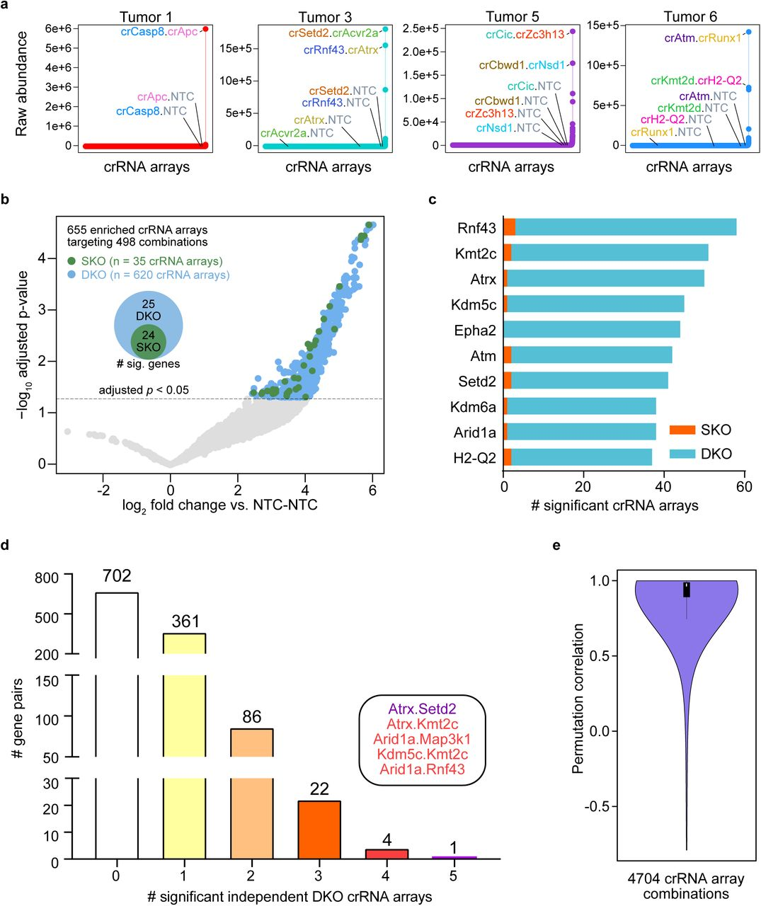 Mapping in vivo genetic interactomics through Cpf1 crRNA array