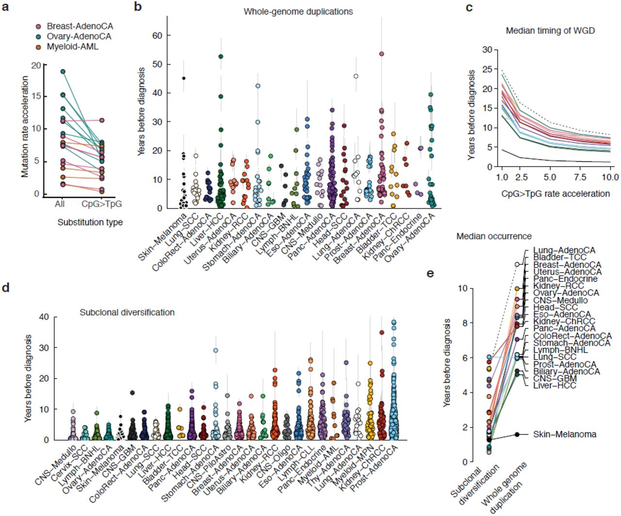 The evolutionary history of 2,658 cancers | bioRxiv
