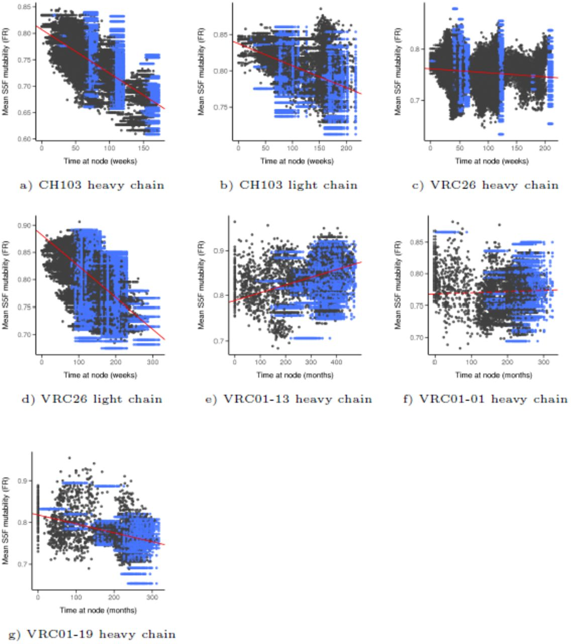 Selection and neutral mutations drive pervasive mutability
