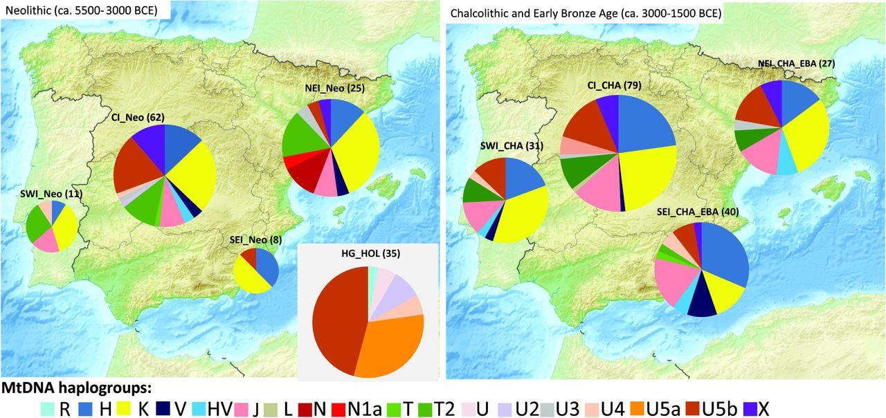 The maternal genetic make-up of the Iberian Peninsula