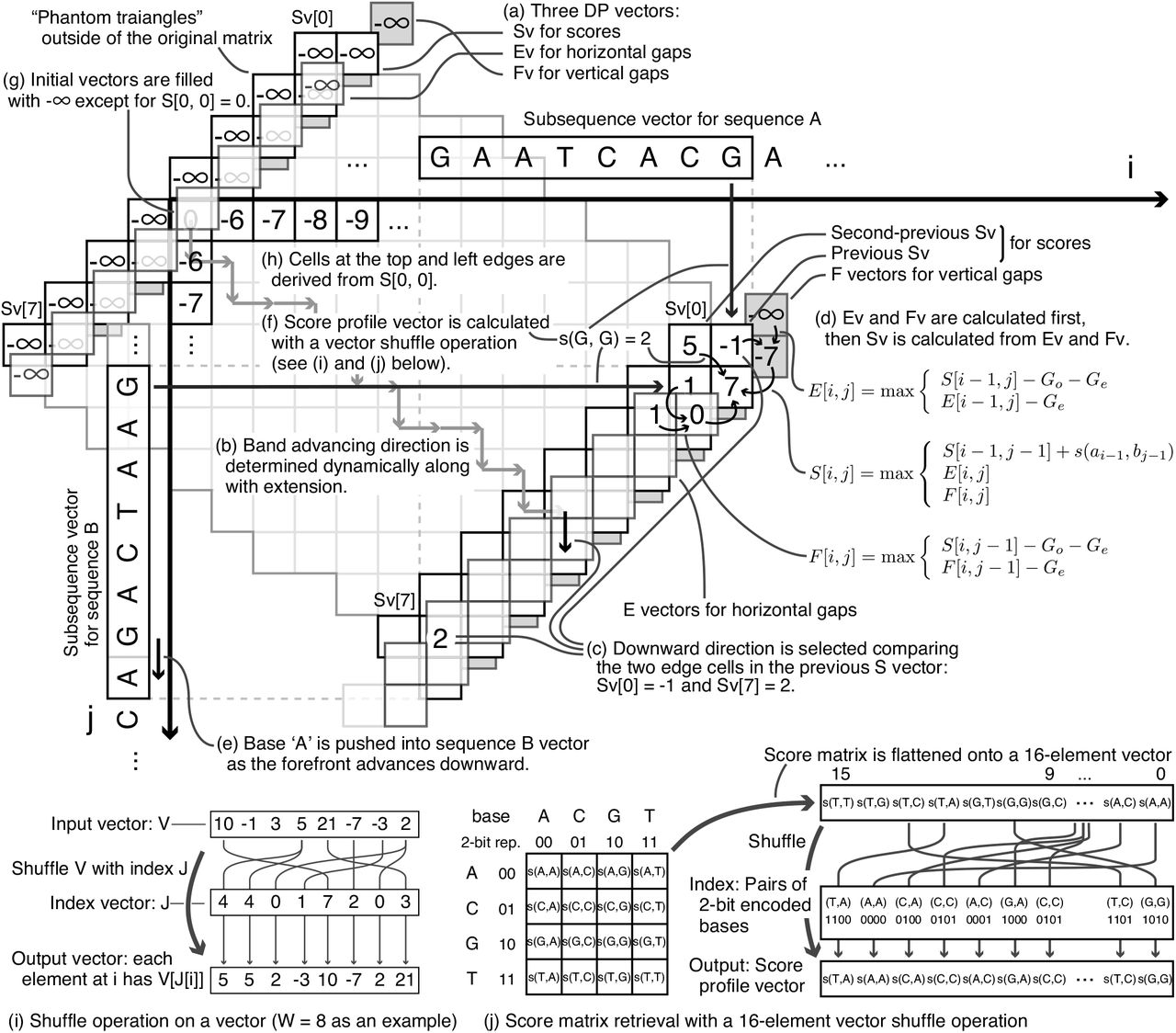 Acceleration of Nucleotide Semi-Global Alignment with