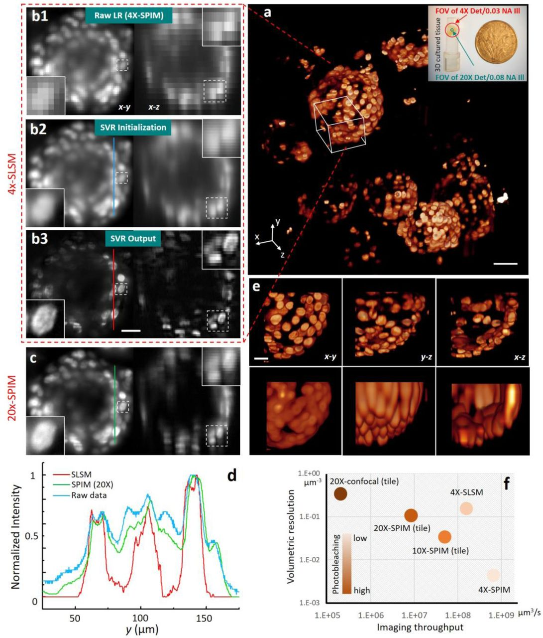 Sub-voxel light-sheet microscopy for high-resolution, high