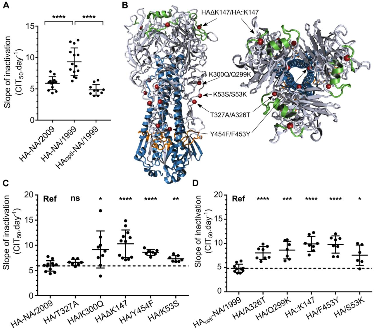 Influenza A virus environmental persistence is driven by the