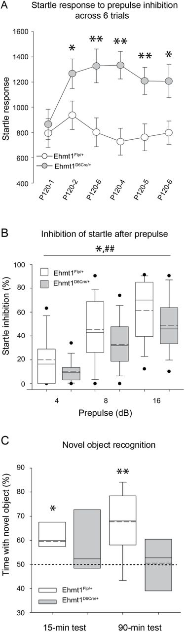 Ehmt1 forebrain haploinsufficiency leads to impaired memory