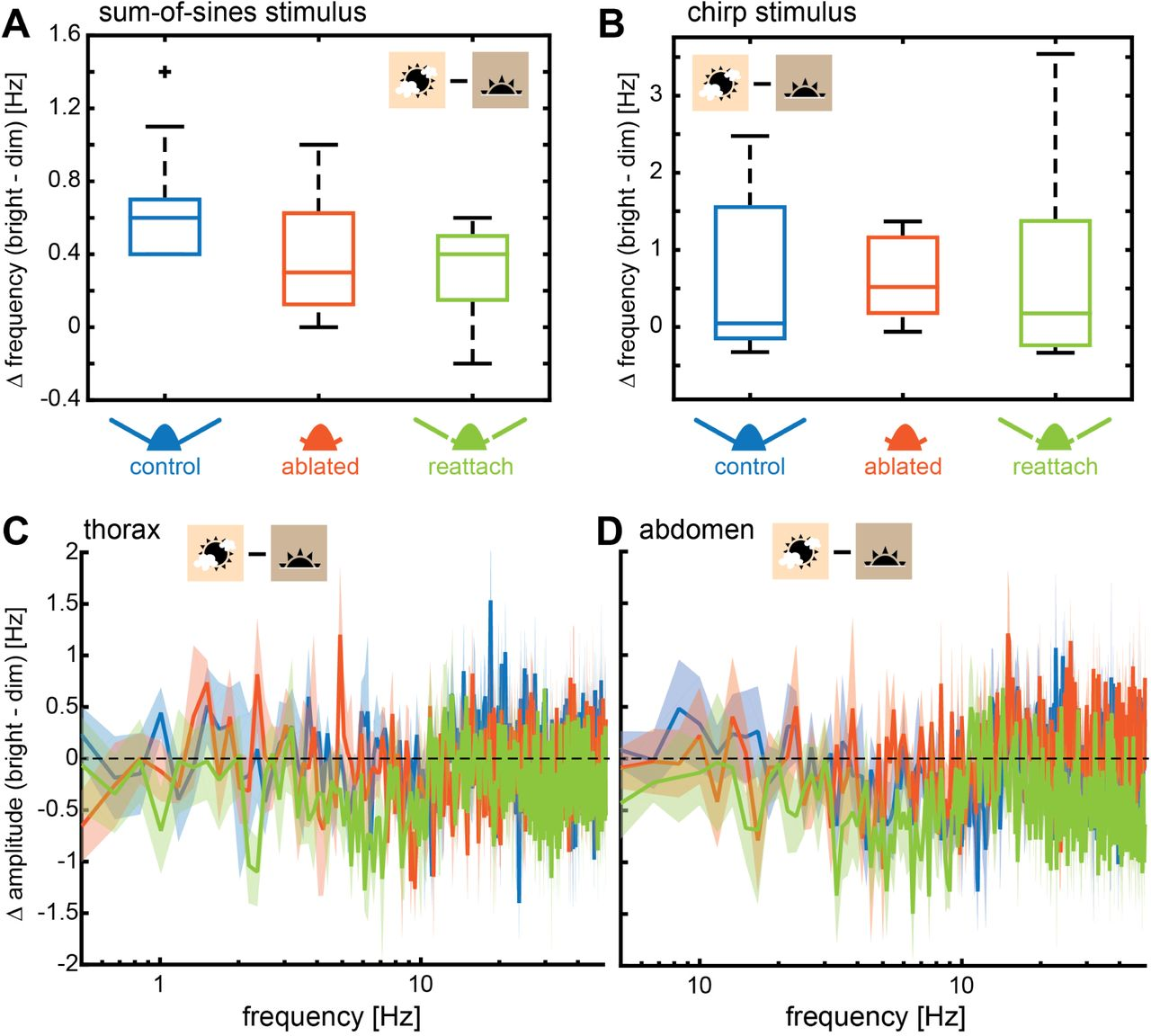 The roles of vision and antennal mechanoreception in