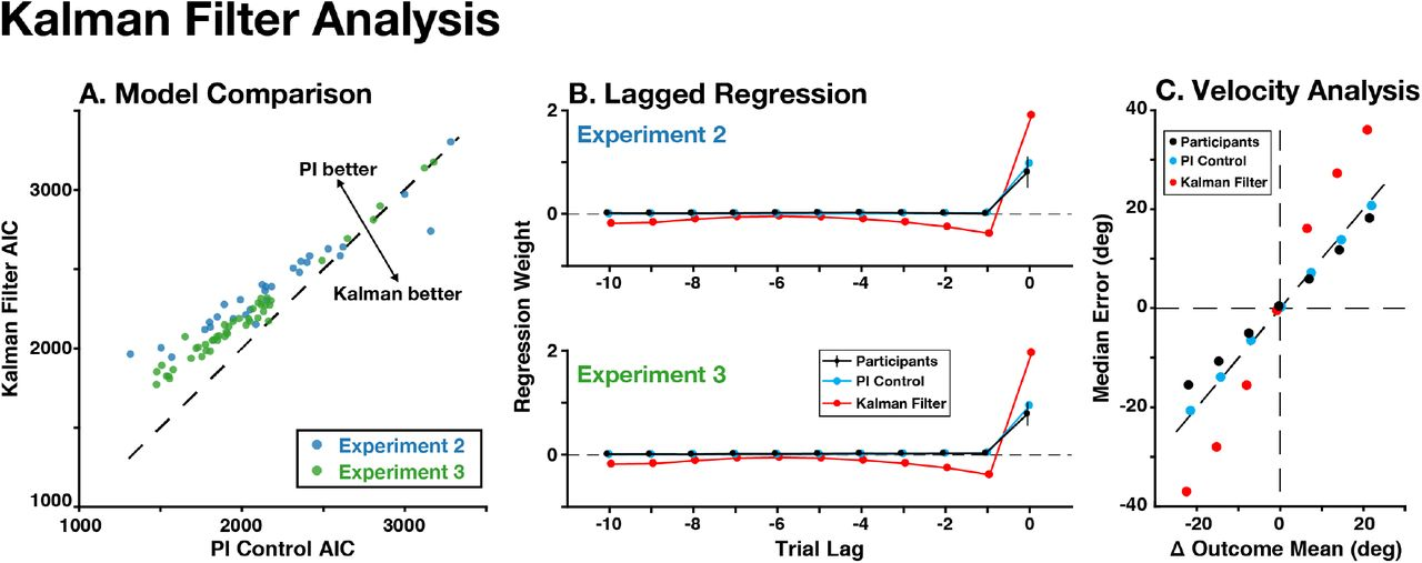 A control theoretic model of adaptive behavior in dynamic