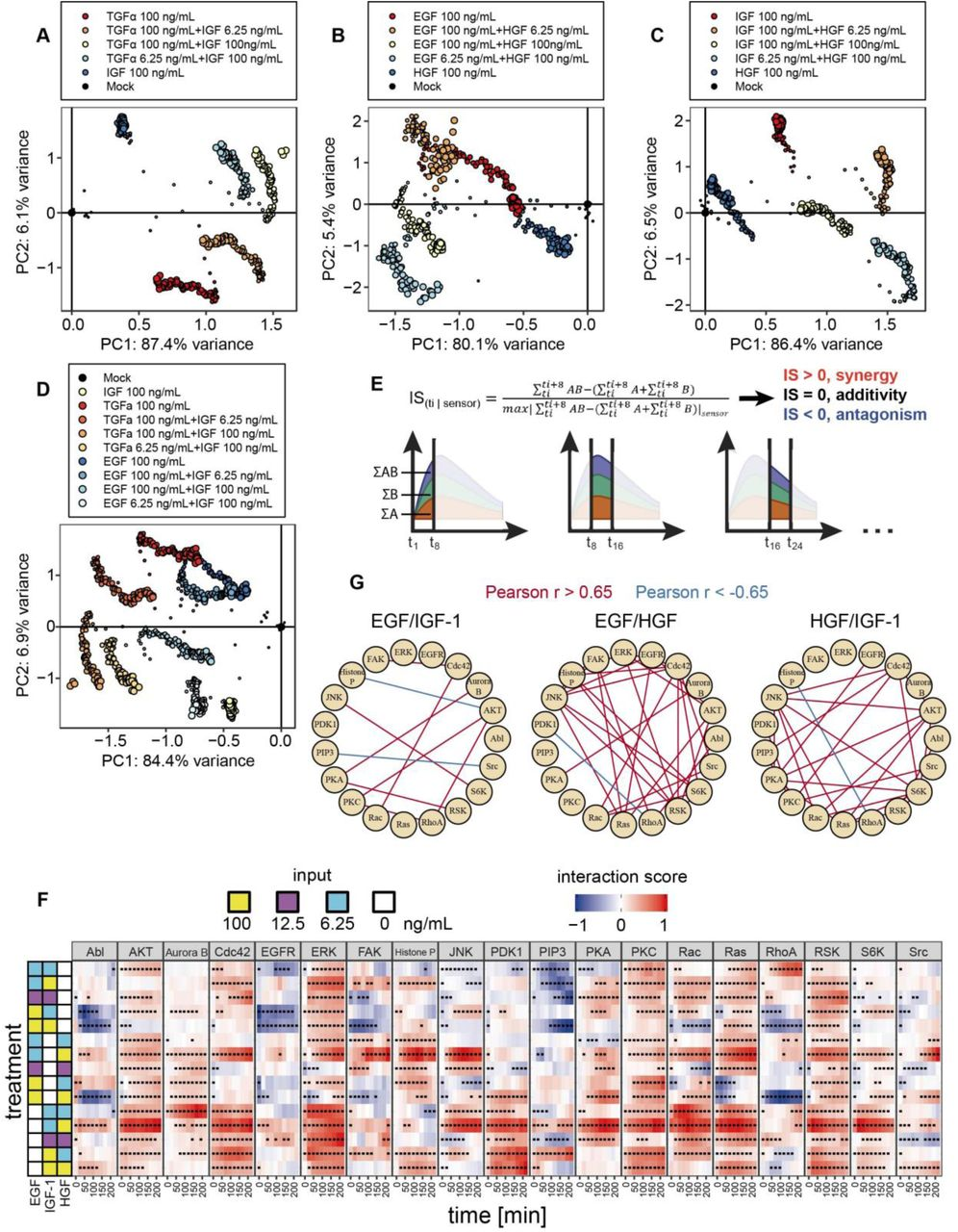A combinatorial extracellular code tunes the intracellular