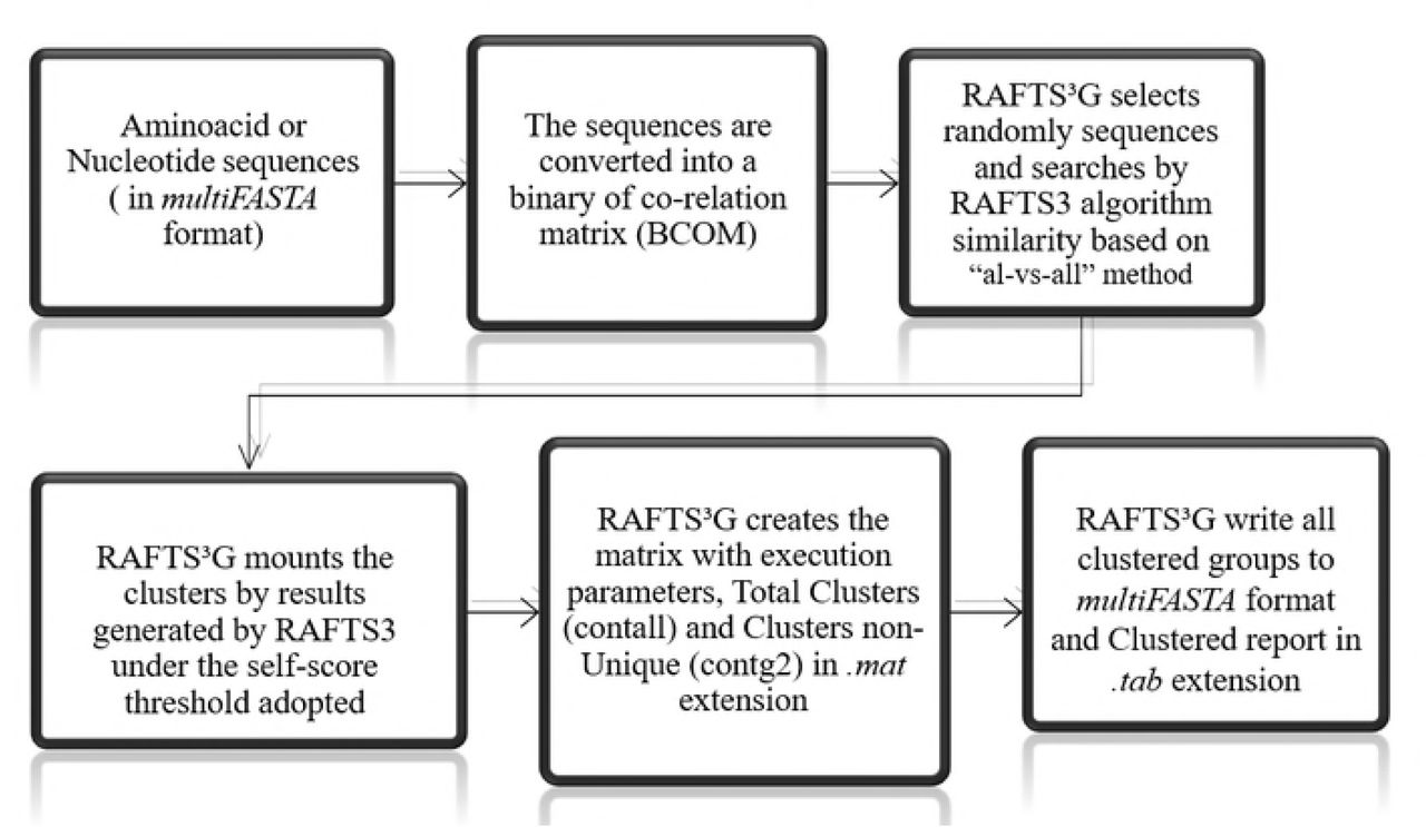 RAFTS3G – An efficient and versatile clustering software to
