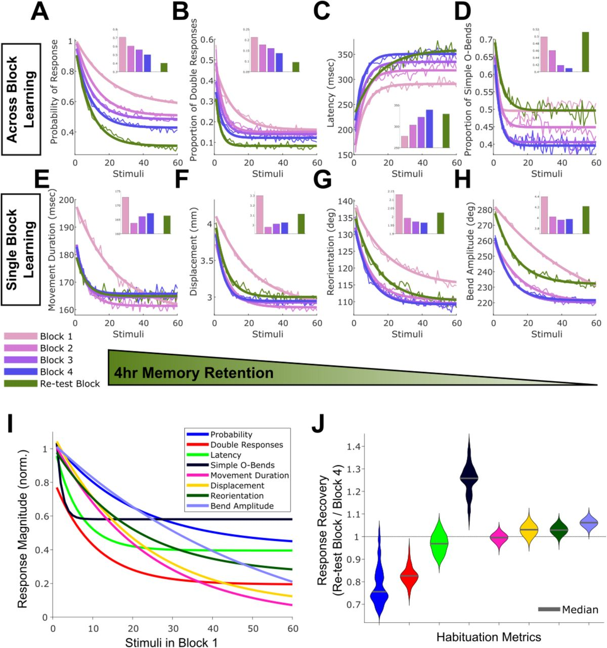 Distributed plasticity drives visual habituation learning in