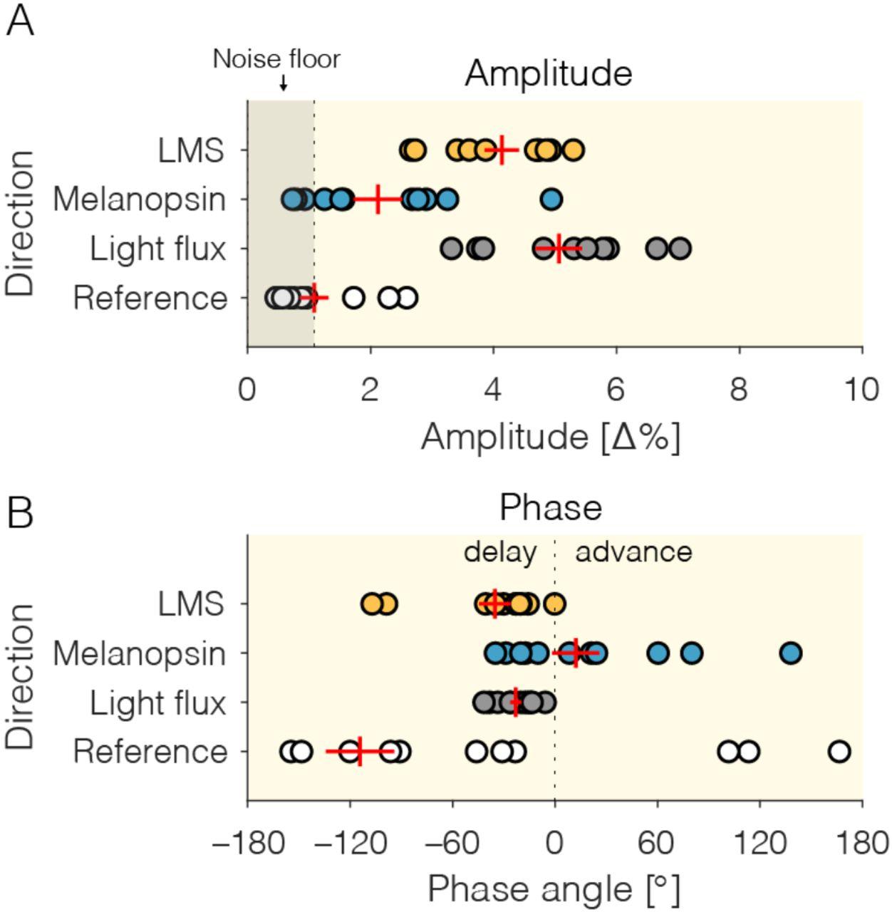 Pupil responses to hidden photoreceptor–specific modulations
