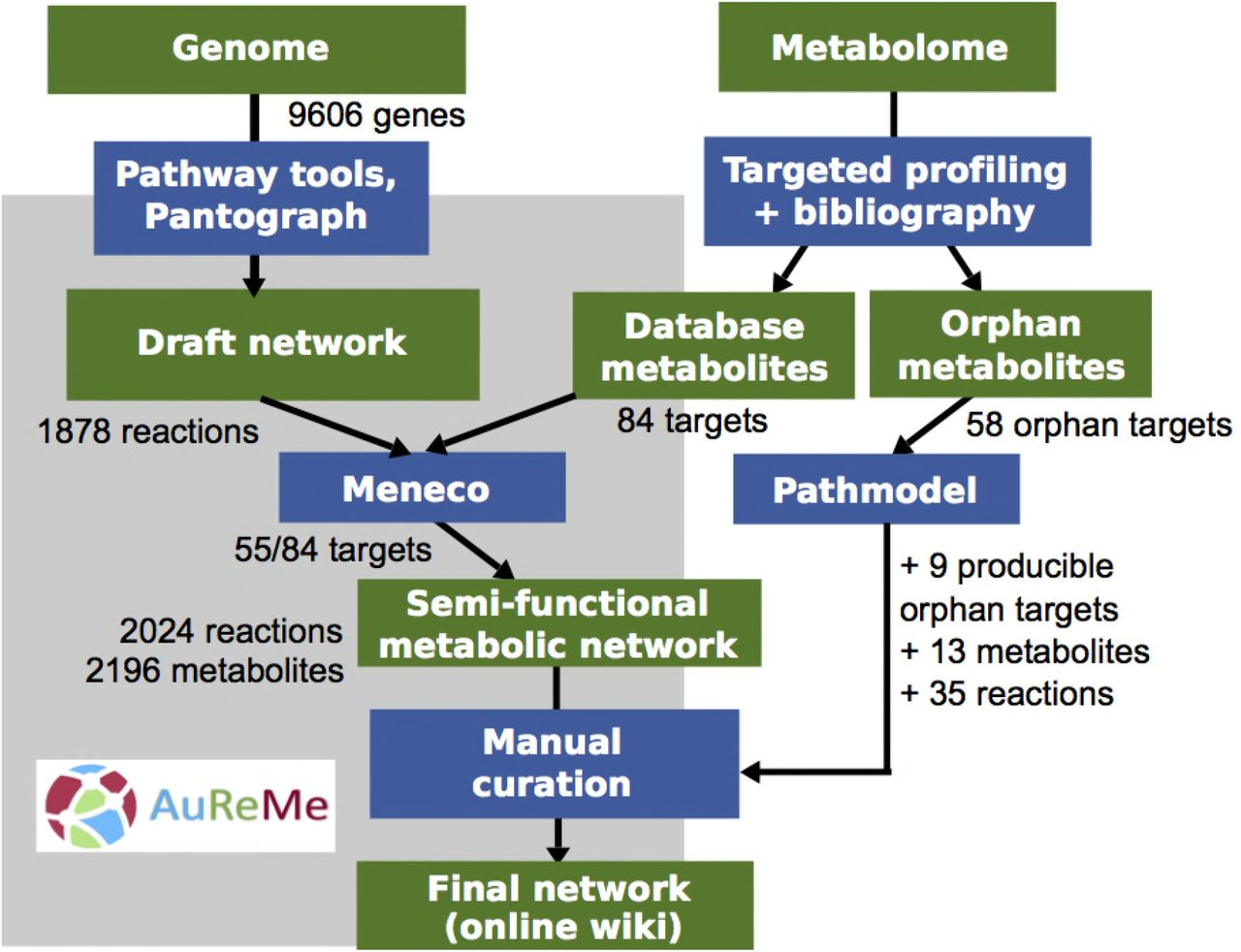 Inferring biochemical reactions and metabolite structures to
