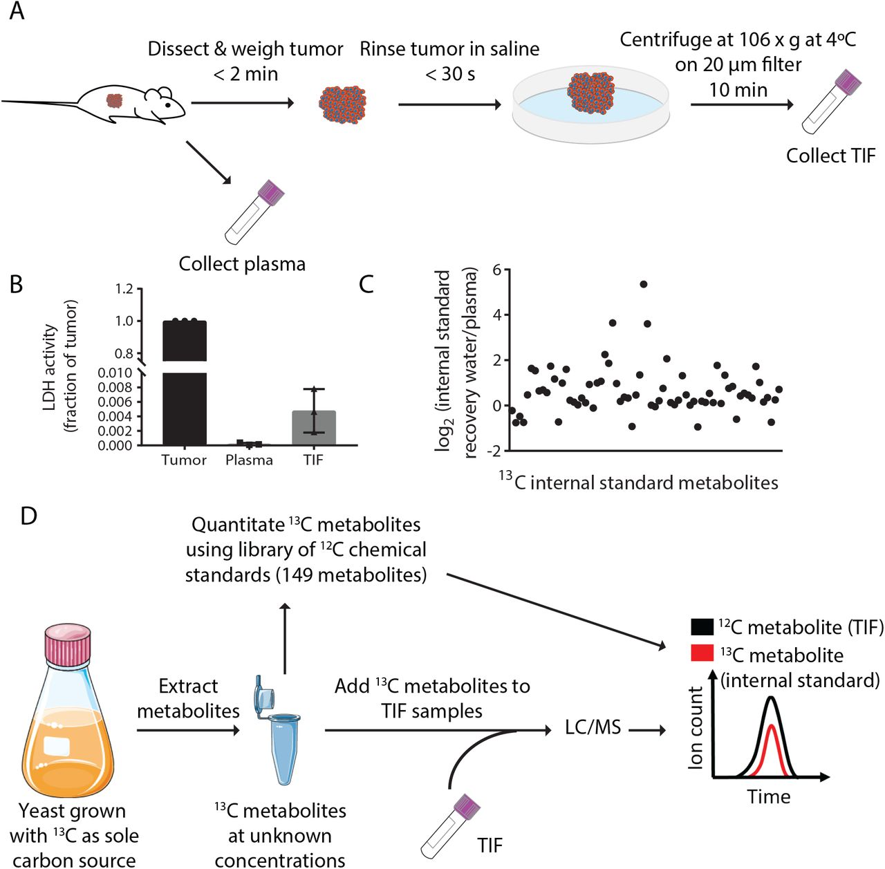 Quantification of microenvironmental metabolites in murine