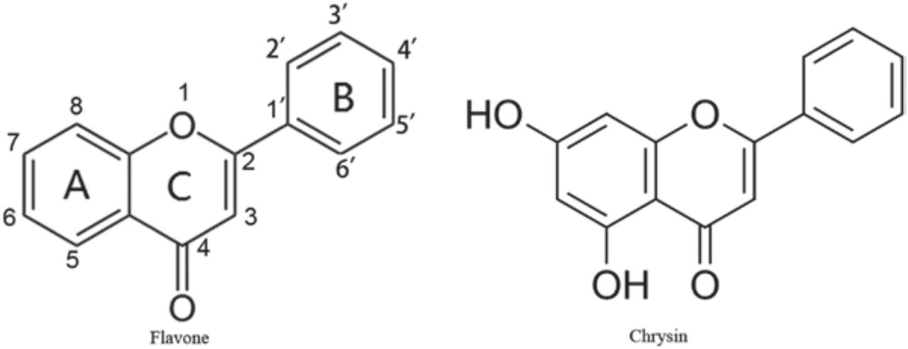 Chrysin, but not the flavone backbone, decreases anxiety