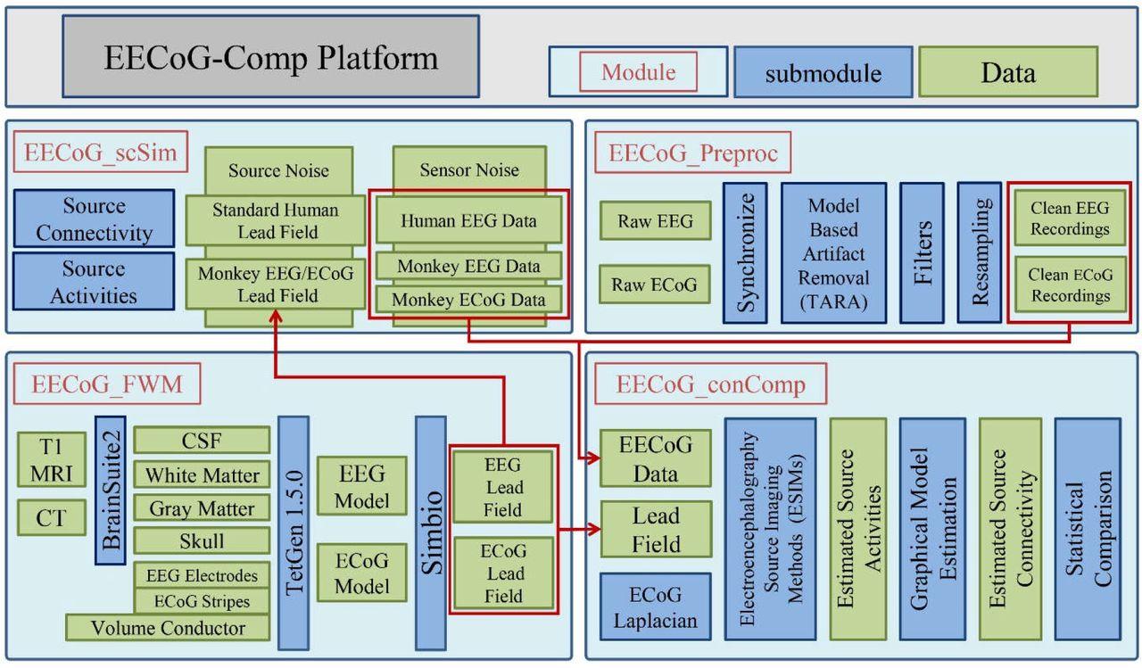 EECoG-Comp: An Open Source Platform for Concurrent EEG/ECoG