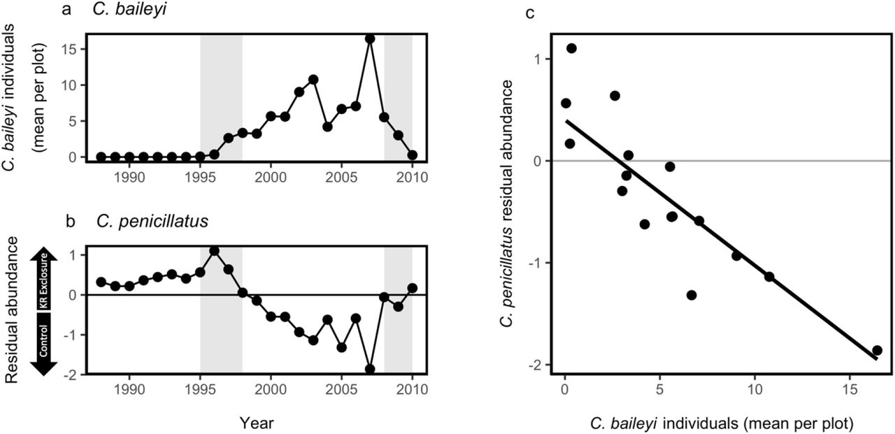 Temporal changes in species composition affect a ubiquitous