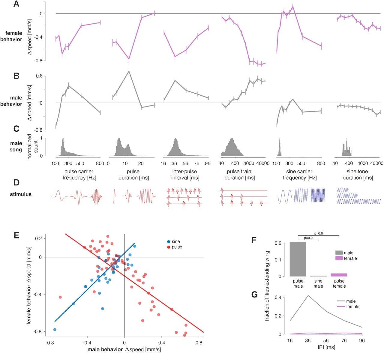 Shared Song Detector Neurons in Drosophila Male and Female