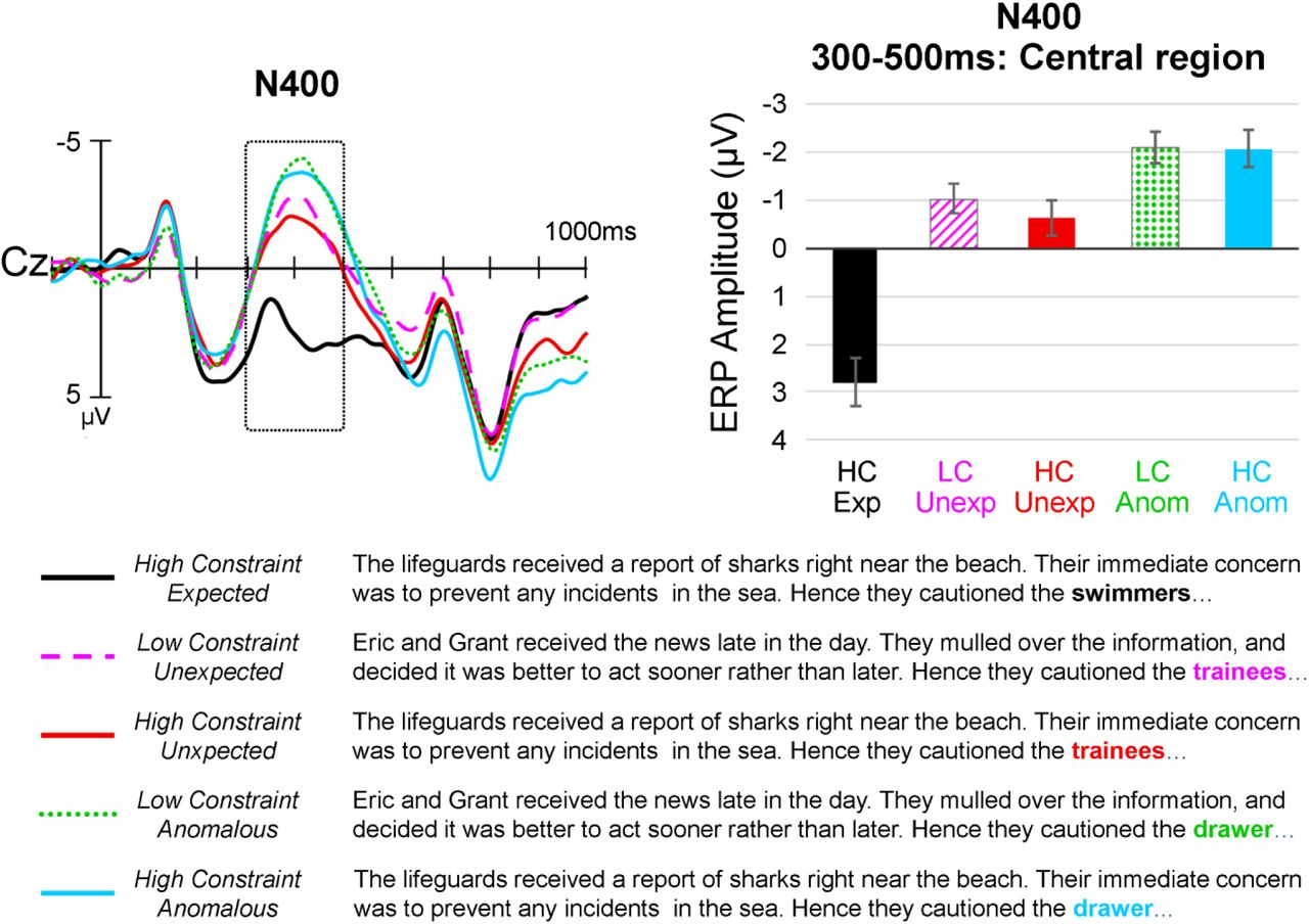 A Tale of Two Positivities and the N400: Distinct neural
